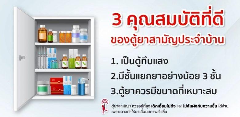 3 คุณสมบัติ ตู้ยาสามัญประจำบ้าน